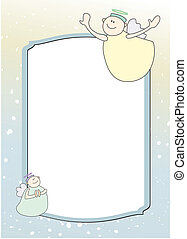 Template with two funny angels