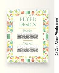 template/poster, vektor, tervezés, színes