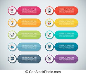 Templates for infographics. Set of abstract colorful banners