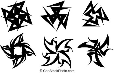 templates for tattoo and design in the form of the cross on different topics
