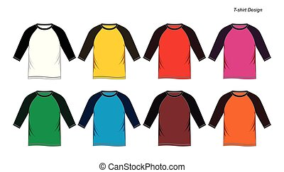 templates raglan shirt, isolated on a white background, vector image