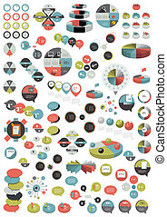 templates., rond, collection