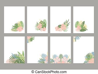 Templates with tropical leaves.