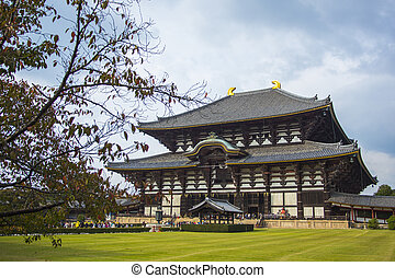 temple., ιαπωνία , nara., todai-ji