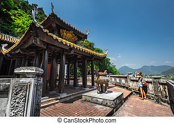Temple at sunny day