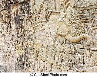 temple bayon, cambodia.
