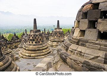 temple borobudur, indonésie