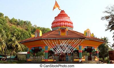temple., bouddha, inde, temple, ajoba