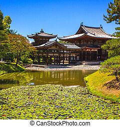 temple, bouddhiste, kyoto, asie, site., uji, unesco, byodoin, byodo, ou, japon