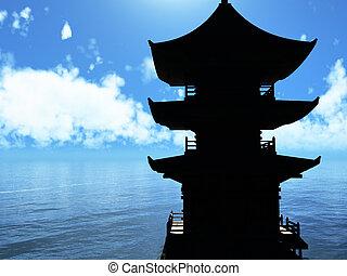 temple, bouddhiste zen