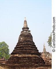 Temple Buddha Statue  in Sukhothai Historical Park,Thailand