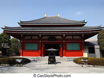 Temple building at Senso Ji - Asakusa - Tokyo Japan(Asakusa Kannon Temple)