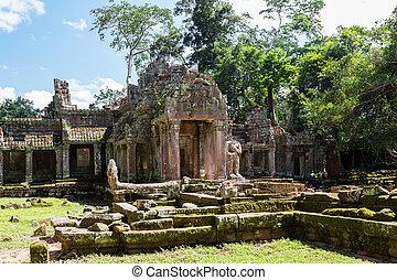 temple., can, preah