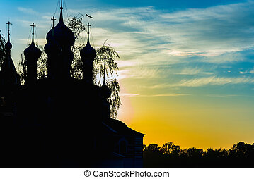 temple church sunset