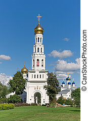 Temple complex in the village of Zavidovo. Russia.