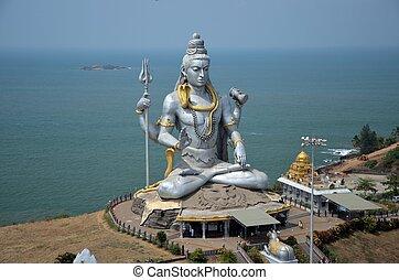 temple, de, shiva seigneur, karnataka, inde