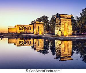 Temple Debod of Madrid - Temple Debod in Madrid, Spain.