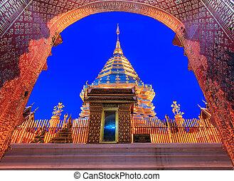temple, doi, province, phra, chiang, thaïlande, suthep, wat...