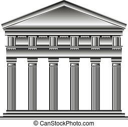 temple, dorique