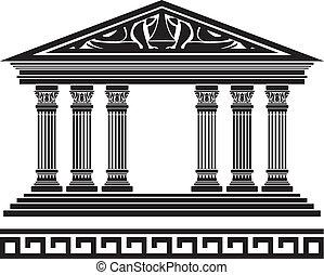 temple., fantasie, variante, viert