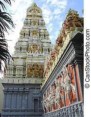 temple gopuram - hindu temple tower or gopuram and its...