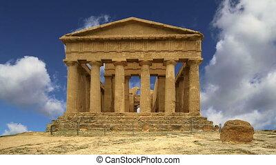 temple, grec, concordia, ancien