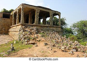 temple hindou, pierre, traditionnel