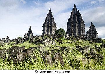 temple hindou, prambanan.