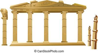 temple, icône