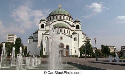 Temple in Belgrade, fountain