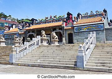Temple in Hong Kong, China.