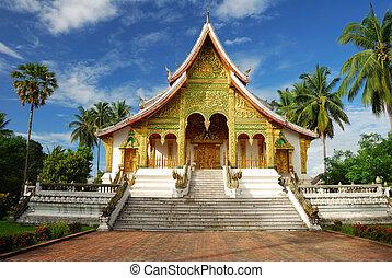 Temple in Luang Prabang Museum, Laos