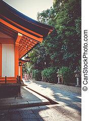 Temple in Maruyama garden, Kyoto, Japan - Temple in Maruyama...