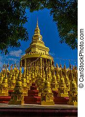 Temple in Thailand - Pagoda in Sawang-Bun temple, Saraburi...