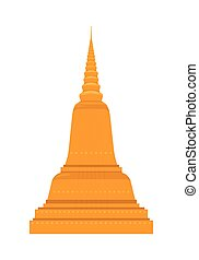 Temple in Thailand. Traditional Thai Architecture.