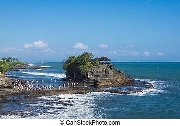 Temple in the sea (Pura Tanah Lot). Bali, Indonesia