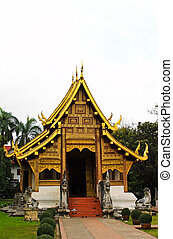 Temple in Wat Phra Sing, Chiang Mai, Thailand