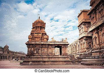 temple., indien, brihadishvara