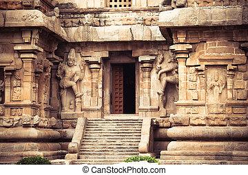 temple., indien, cholapuram, gangaikonda