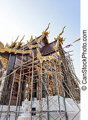 Temple is under renovation