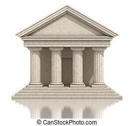 temple, isolé