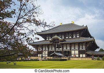 temple., japão, nara., todai-ji