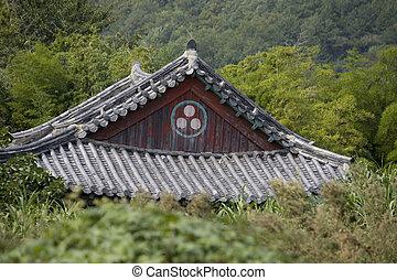 temple - Jinhae im Herbst