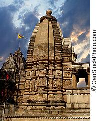 temple., khajuraho, indie