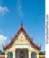 temple, la plupart, bouddhisme, thailand., beau
