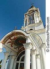 Temple-Lighthouse St. Nicholas of Myra in the village Malorechen