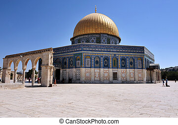 Temple Mount and Dome of the Rock in Jerusalem Israel