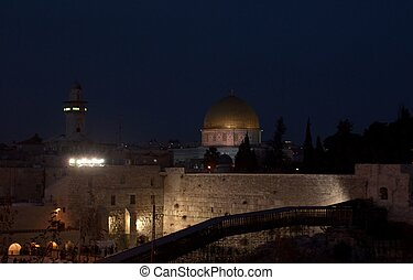 Temple mount view in jerusalem holy land