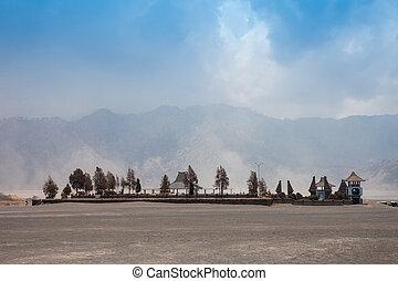 Temple near Bromo - Hindu temple (Pura Luhur Poten) at the ...