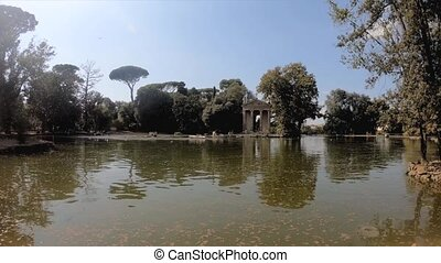 Temple of Aesculapius in Villa Borghese, Rome, Italy